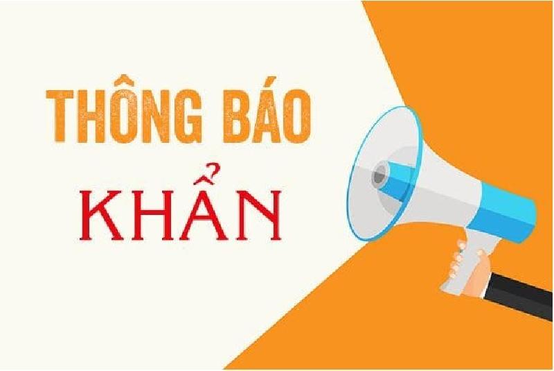 Thông báo khẩn số 5 của Sở Y tế tỉnh Phú Thọ